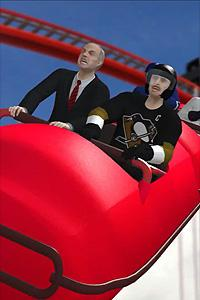 Sidney Crosby and Gary Bettman in Taiwanese animation of NHL lockout