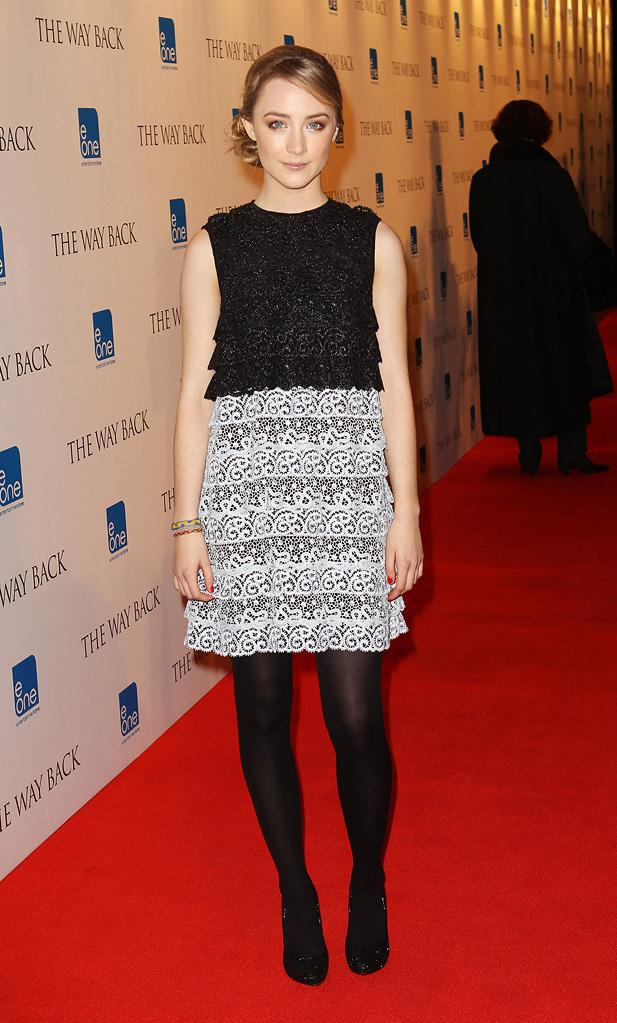 The Way Back UK Premiere 2010 Saoirse Ronan