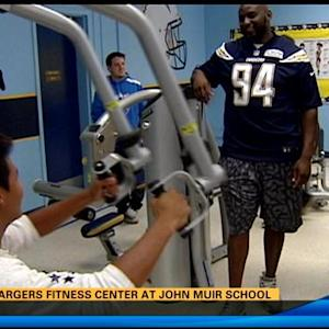 San Diego Chargers fitness center at John Muir School