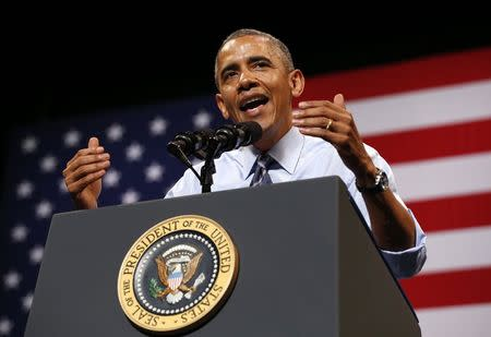 Obama speaks about the economy in Austin, Texas