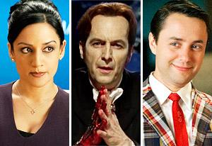 Archie Panjabi, Denis O'Hare, Vincent Kartheiser | Photo Credits: David Giesbrecht/CBS, HBO, Ron Jaffe/AMC