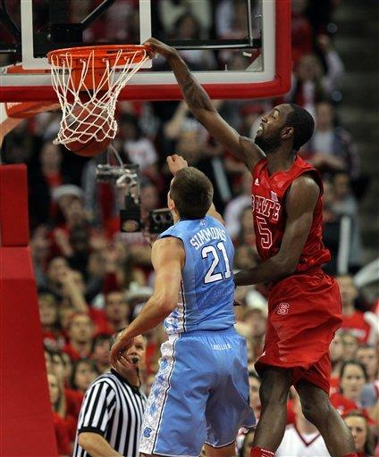 No. 18 NC State tops rival North Carolina 91-83
