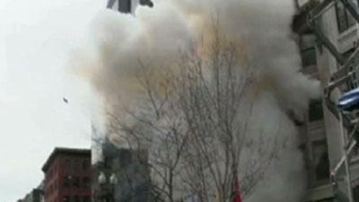 Raw: Boston Explosion Caught on Video