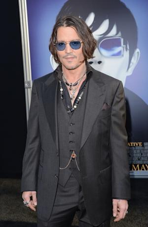 Johnny Depp steps out at the premiere of 'Dark Shadows' at Grauman's Chinese Theatre in Hollywood, Calif. on May 7, 2012  -- Getty Images