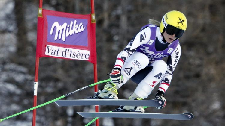 Austria's Anna Fenninger skis during the Women's World Cup Downhill skiing race in Val d'Isere