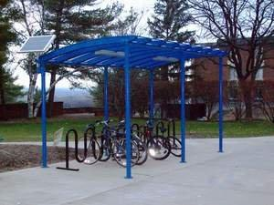 Duo-Gard's New Van-Gard Bike Shelter Enhances SUNY Geneseo Campus