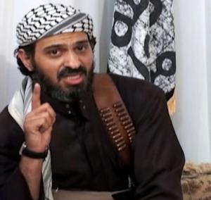FILE - In this undated frame grab from video posted on a militant-leaning Web site, and provided by the SITE Intelligence Group, shows Saeed al-Shihri, deputy leader of al-Qaida in the Arabian Peninsula. Yemeni officials say a missile believed to have been fired by a U.S. operated drone on Monday has killed al-Qaida's No. 2 leader in Yemen along with five others traveling with him in one car. Al-Qaida's Yemen branch is seen as the world's most active, planning and carrying out attacks against targets in and outside U.S. territory. (AP Photo/SITE Intelligence Group, File)  NO SALES. THE ASSOCIATED PRESS HAS NO WAY OF INDEPENDENTLY VERIFYING THE CONTENT, LOCATION OR DATE OF THIS VIDEO IMAGE