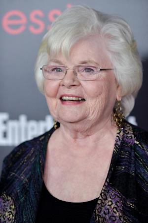 June Squibb arrives at the Entertainment Weekly Screen Actors Guild Party at the Chateau Marmont on Friday, Jan. 17, 2014 in Los Angeles. (Photo by Richard Shotwell Invision/AP)