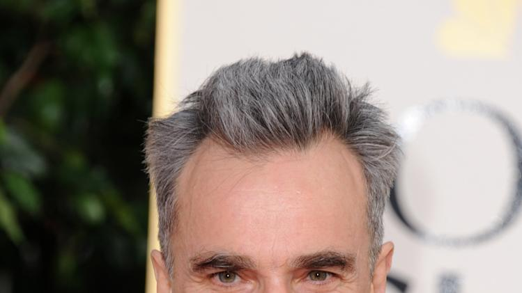 Actor Daniel Day-Lewis arrives at the 70th Annual Golden Globe Awards at the Beverly Hilton Hotel on Sunday Jan. 13, 2013, in Beverly Hills, Calif. (Photo by Jordan Strauss/Invision/AP)