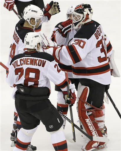 Brodeur scores as Devils top Hurricanes 4-1