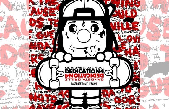 Lil Wayne : Lil Wayne : dcouvrez le visuel de sa nouvelle mixtape &quot;Dedication 4&quot; !