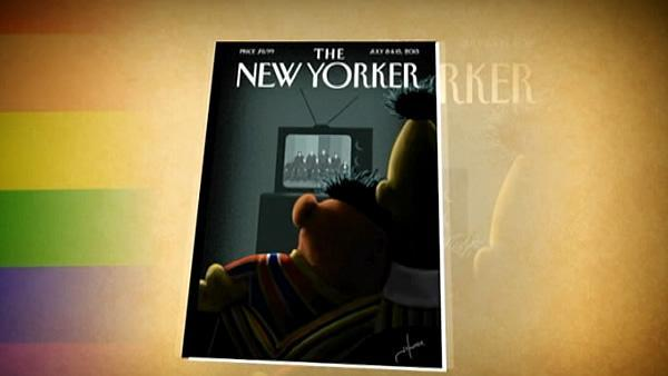 New Yorker cover depicts Bert, Ernie as gay couple