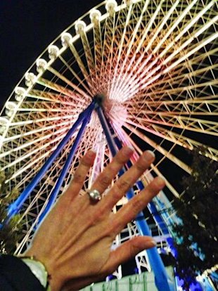 Krista D'Agnostino shows off her engagement ring from James Costello. (Photo: James Costello's Facebook)