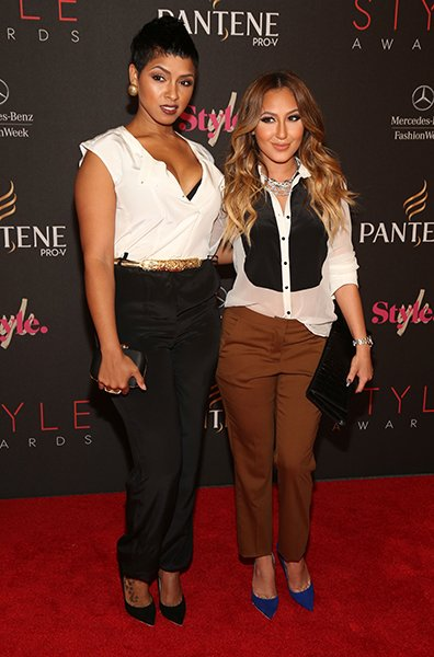 Adrienne Bailon and RaVaughn Brown