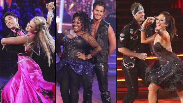 Roshon Fegan and Chelsie Hightower, Sherri Shepherd and Val Chmerkovskiy, William Levy and Cheryl Burke -- ABC