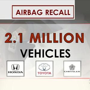 Automakers recall 2.1 million cars for faulty airbags