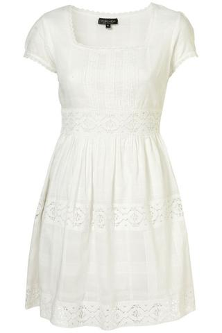 White prairie lace panel sundress, $75, at Topshop