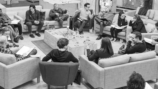The creative team and cast of 'Star Wars: Episode VII' in London on April 29, 2014 -- Disney