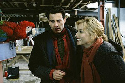 Animal lovers Chloe ( Alice Evans , right) and Kevin ( Ioan Gruffudd , left) have a unique pet on their hands, a macaw named Waddlesworth (voice of Eric Idle) who, having been raised at the dog shelter, believes he, too, is a dog, in Walt Disney's 102 Dalmatians