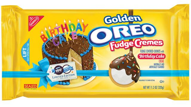 Oreo Launches New Birthday Cake-Filled Fudge Cookies