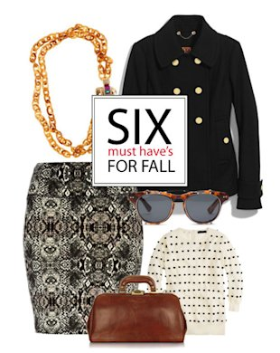 Six pieces to get you through the fall in style!