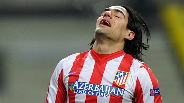 Atletico Madrid striker Radamel Falcao during a Europa League match against Rubin Kazan in Moscow (AFP)