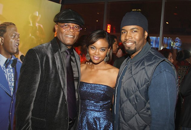 Soul Men NY Premiere 2008 Samuel L Jackson Sharon Leal Michael Jai White