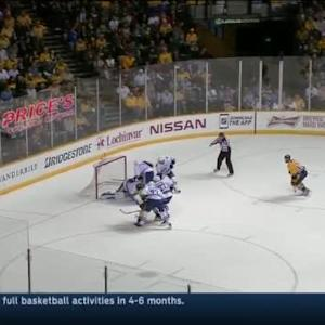 Eddie Lack Save on Roman Josi (14:47/2nd)
