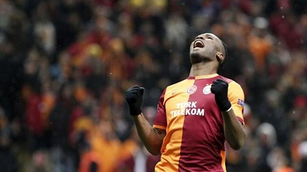 Galatasaray striker Didier Drogba (Reuters)