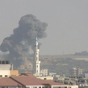 ISRAEL AND GAZA TRADE FIRE