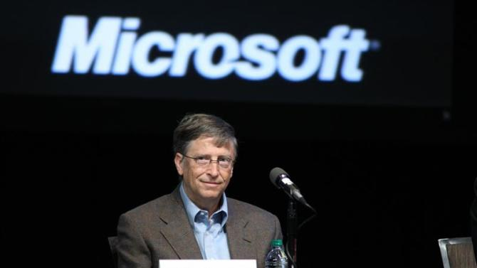 File photo shows Microsoft Chairman Gates attending the Microsoft Shareholders meeting in Bellevue, Washington