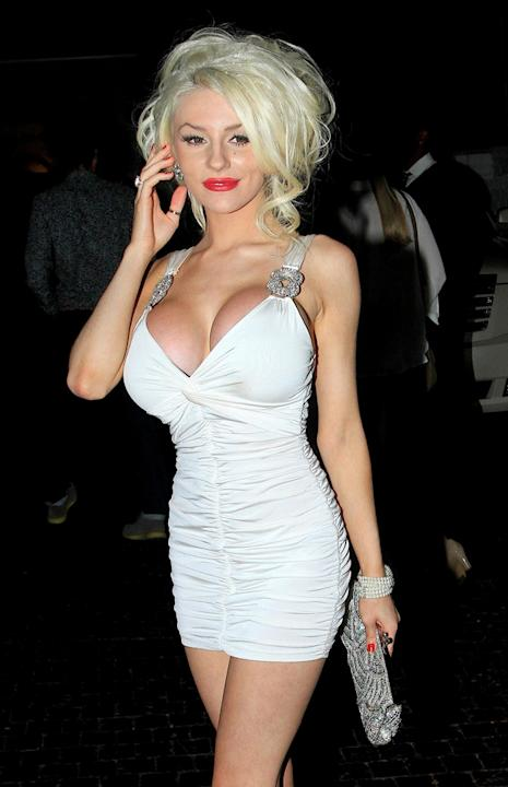 Courtney Stodden Age: 18 Known for: Marrying  53-year-old Doug Hutchinson and wearing as little clothes as humanly possible. Most likely to: Get drunk, wear many a bikini and flaunt her new boobs. Cop