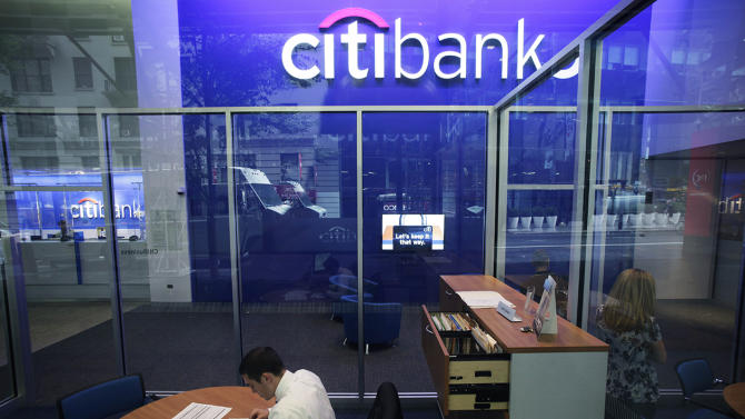 A Citibank branch in New York City.