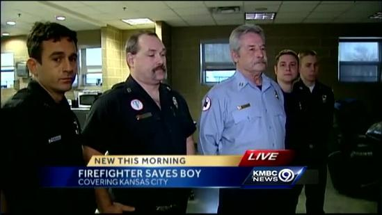 Firefighters talk about rescuing boy from burning apartment