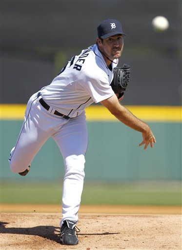 Verlander opens with 2 shutout innings, Tigers win