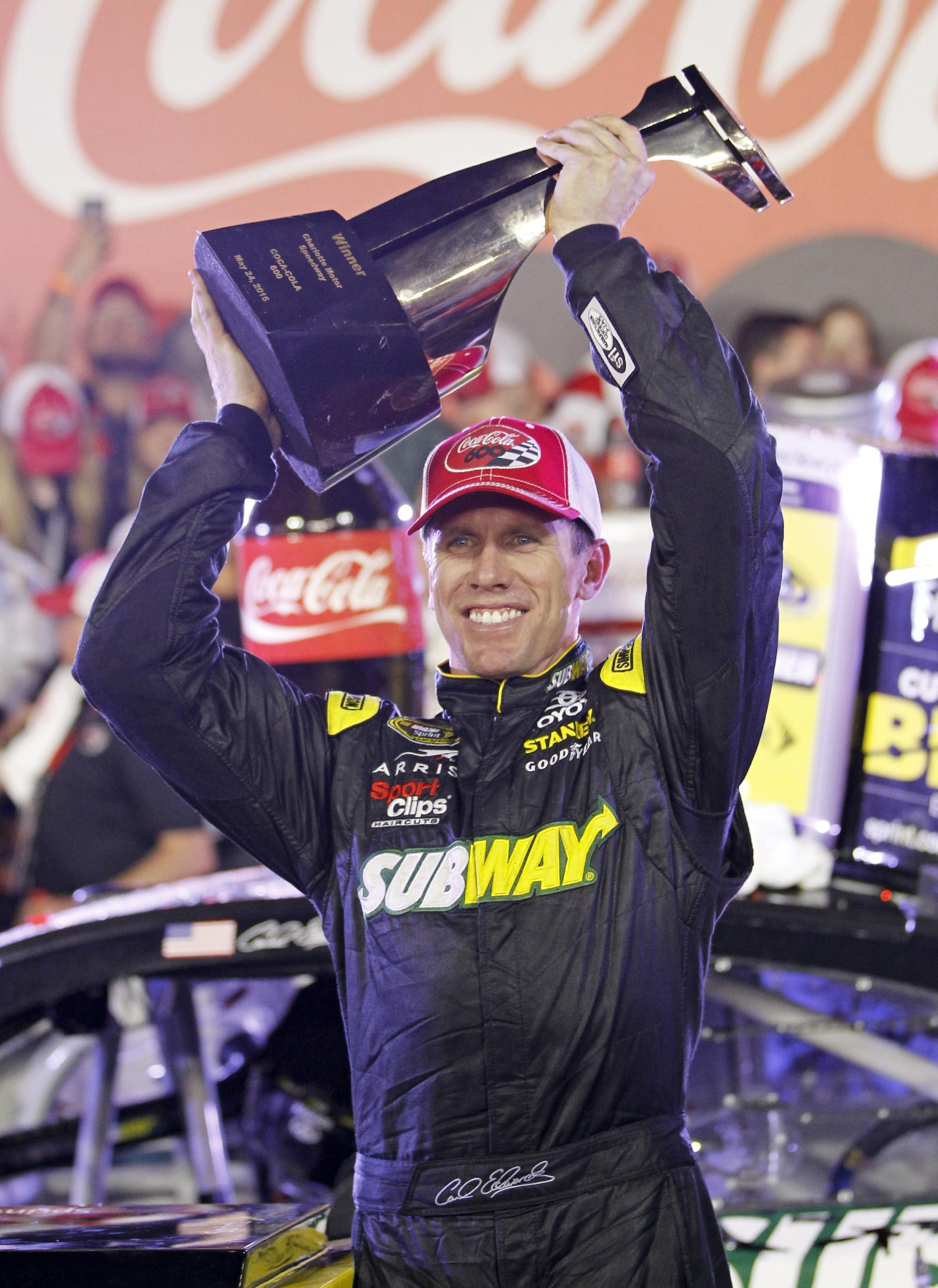 Carl Edwards races to first victory for new JGR team