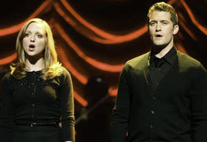 Jayma Mays and Matthew Morrison | Photo Credits: Jordin Althaus/FOX