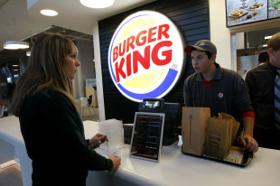 Burger King restaurant: Credit AP