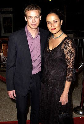Premiere: Simon Baker and wife at the Century City premiere of The Affair of the Necklace - 11/20/2001