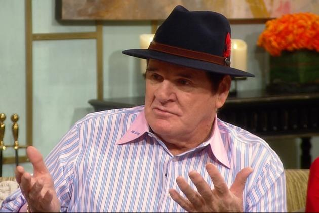 Pete Rose visits Access Hollywood Live on January 11, 2013 -- Access Hollywood