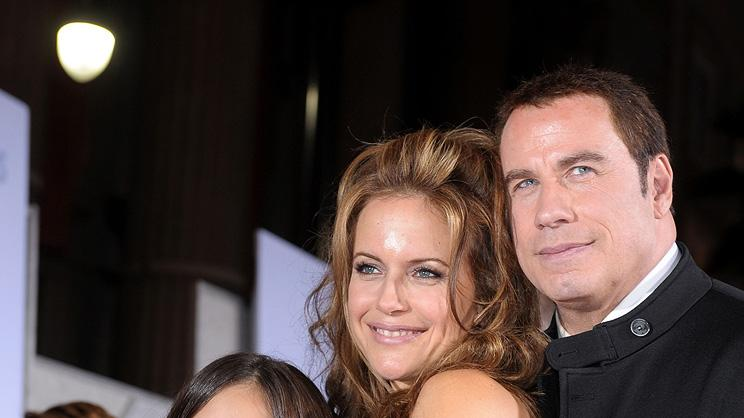 Old Dogs LA premiere 2009 Ella Bleu Travolta Kelly Preston John Travolta