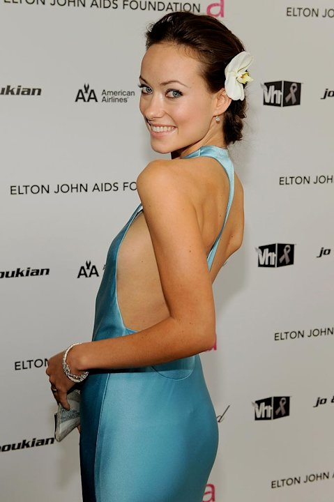 Olivia Wilde arrives at the 17th Annual Elton John AIDS Foundation Oscar party held at the Pacific Design Center on February 22, 2009 in West Hollywood, California.