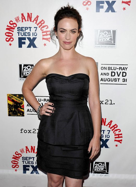 Maggie Siff attends FX's &quot;Sons Of Anarchy&quot; Season 3 premiere on August 30, 2010, in Hollywood. 