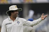 "Indian cricketer Sachin Tendulkar ahead of the fourth day of the first Test between India and New Zealand at the Rajiv Gandhi International cricket stadium in Hyderabad on August 26. In an interview to be broadcast on Indian TV Friday, the 39-year-old said he would decide on a ""series by series"" basis as he acknowledged that the clock was running down on his record-breaking career"