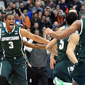 Michigan State Fans Celebrate Final Four Trip With Bagel Toss