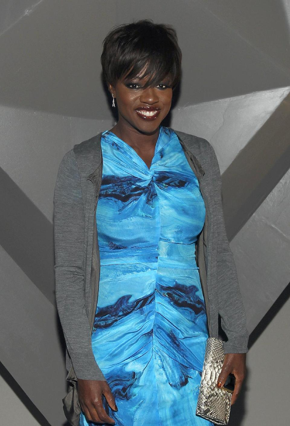 Actress Viola Davis attends the Vera Wang Fall 2012 show during Fashion Week in New York, Tuesday, Feb. 14, 2012. (AP Photo/ Donald Traill)