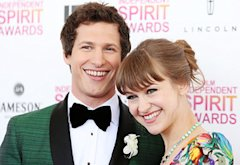 Andy Samberg and Joanna Newsom | Photo Credits: Michael Tran/FilmMagic