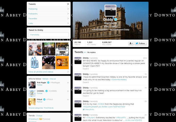 Diddy Twitter Downton Abbey