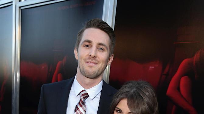 "Ryan Shoos and Pfeifer Brown seen at the Los Angeles Premiere of New Line Cinema ""The Gallows"" held at Hollywood High School on Tuesday, July 7, 2015. (Photo by Eric Charbonneau/Invision for Warner Bros./AP Images)"