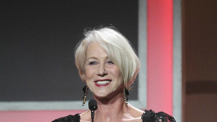 Helen Mirren appears at the American Cinematheque's 2013 Award Show honoring Jerry Bruckheimer, in Beverly Hills